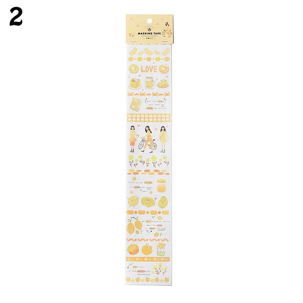 Retro Strip Tape Handkerchief Sticker Album Decor Paper Stickers Diary Label