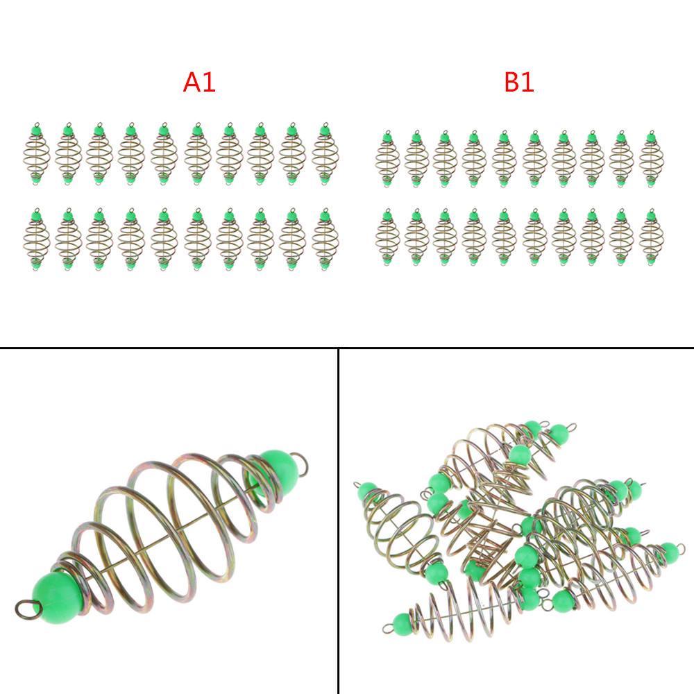 20x Spring Coil Fishing Feeders Carp Tench Bream Inline Method Feeder 4.5//5.5cm