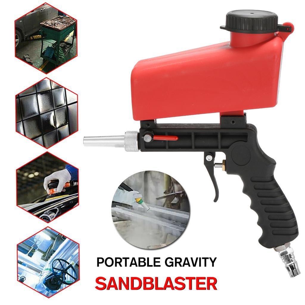 Pneumatic Anti-rust Sandblaster Machine Tool Sand Gravity Air Mini Sandblasting