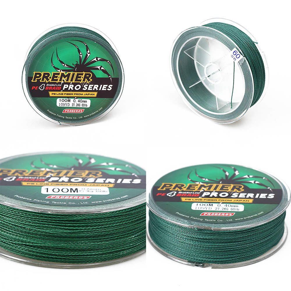 Fishing Rigs Line 100M PE Braided Carp Hook Link Strong Multifilament Tackle