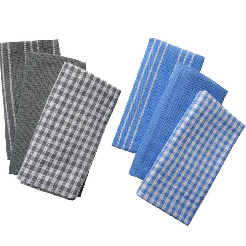 Plaid Absorbent Kitchen Table Dishcloth Cotton Cleaning Soft Cotton Tea Towel