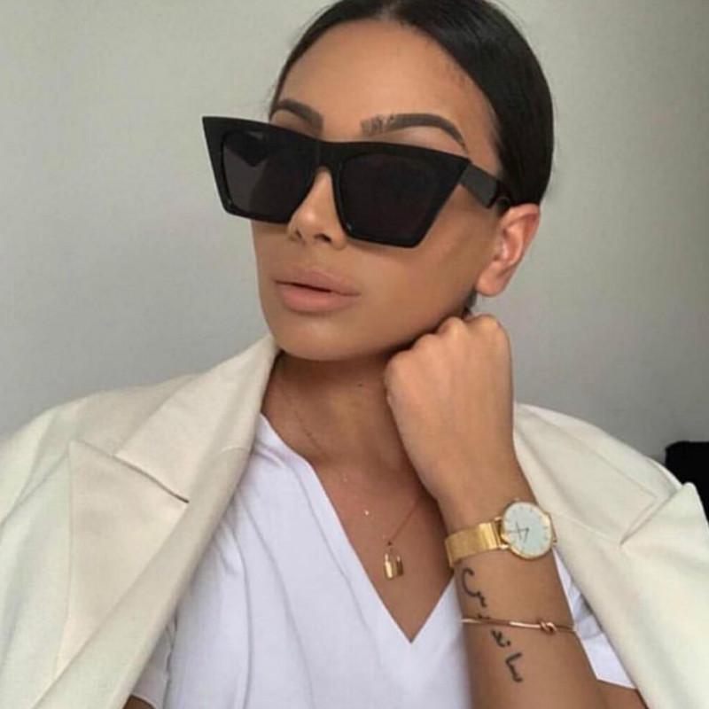 Новый бренд солнцезащитные очки квадратные очки персонализированные кошачьи глаза красочные солнцезащитные очки тренд универсальные солнцезащитные очки Uv400 занавески – купить по низким ценам в интернет-магазине Joom