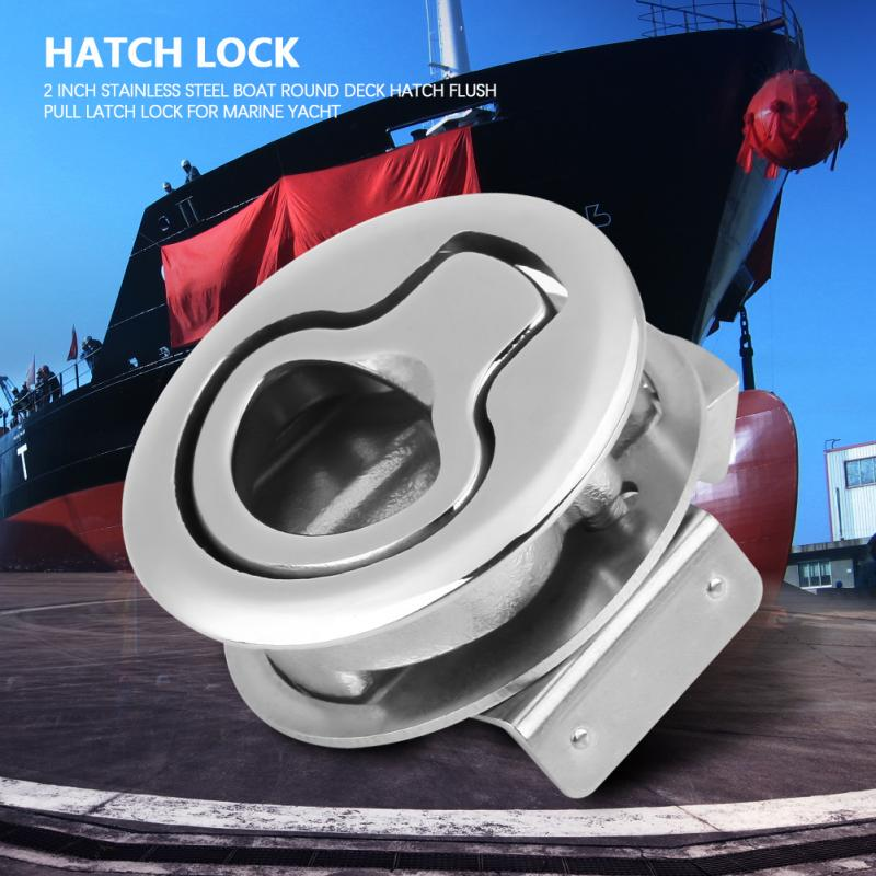"""Great Quality 1PC Stainless Steel Hatch Flush Pull Latch 2/"""" For Boat Marine"""