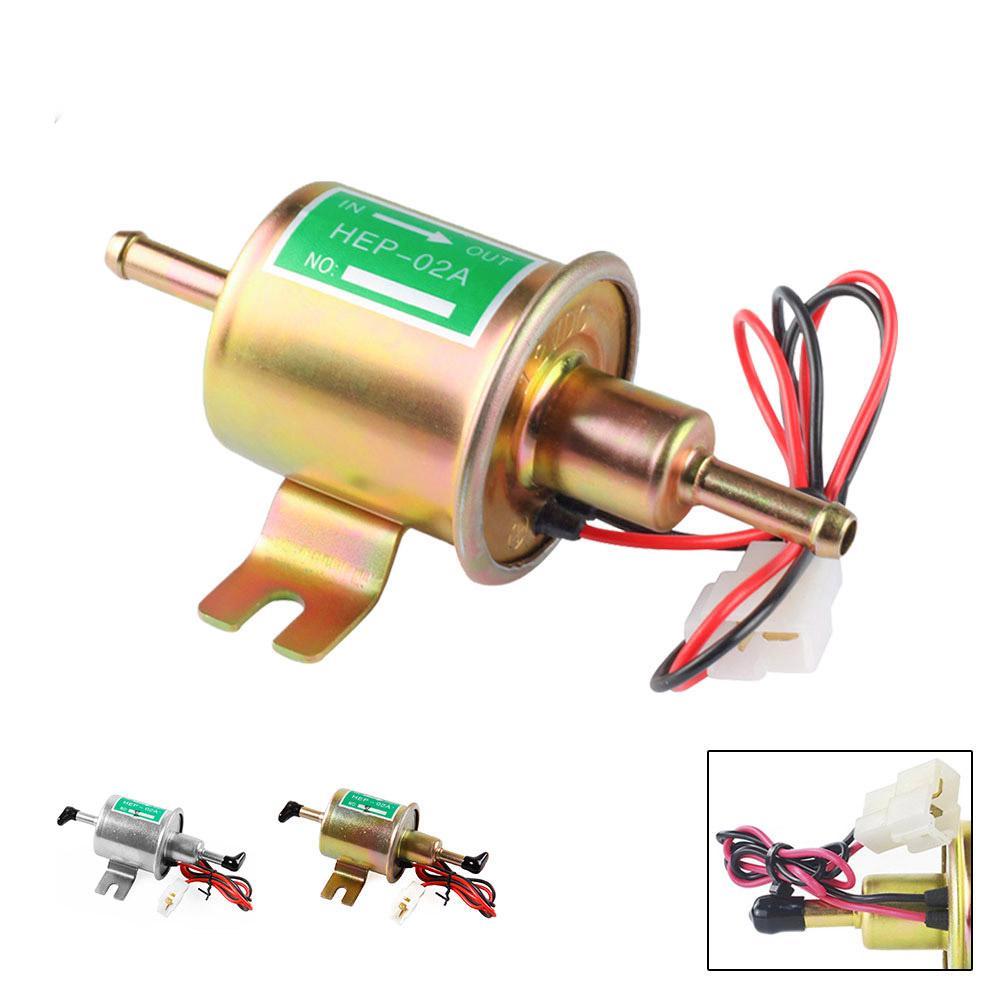 HEP-02A Big Gold Universal Fuel Pump Electric Gas Diesel Inline Low Pressure 12V