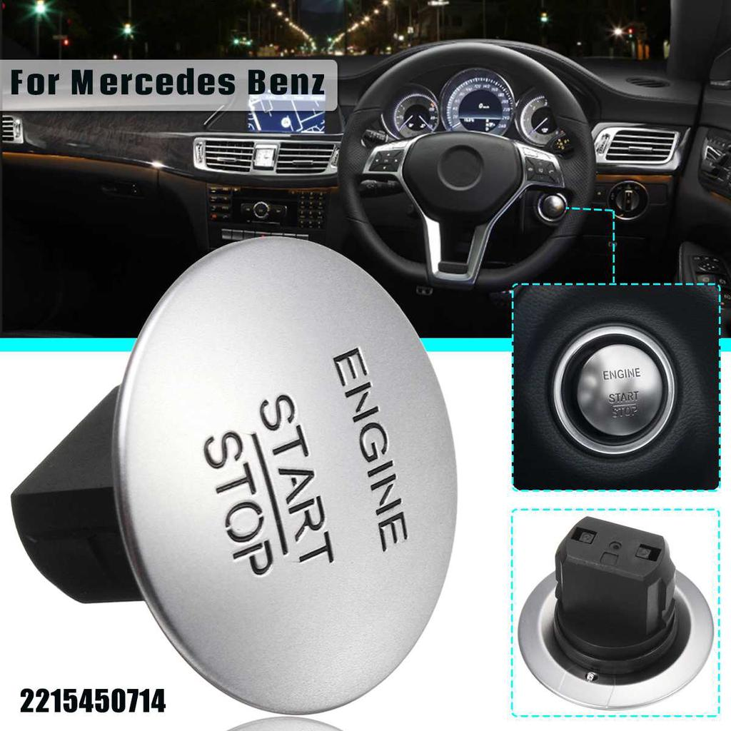 Keyless Go Start Stop Push Button Engine Ignition Switch Silver 2215450714 for Mercedes-Benz CL550 CLS350 E350 GL350