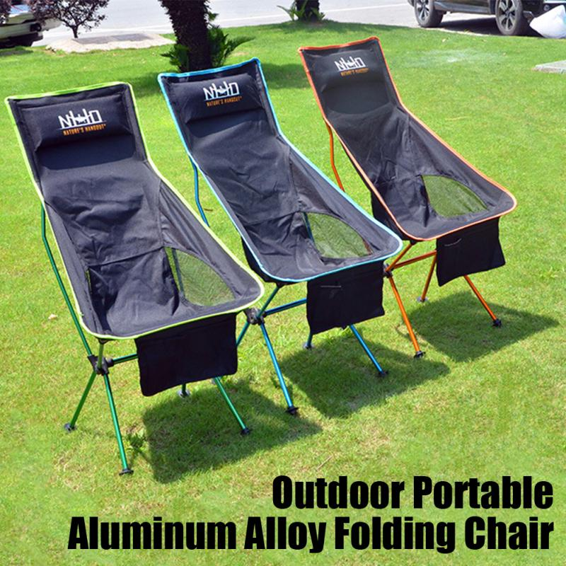 Portable Folding Chair Outdoor Seat Camping Fishing Picnic With BBQ S2Q5
