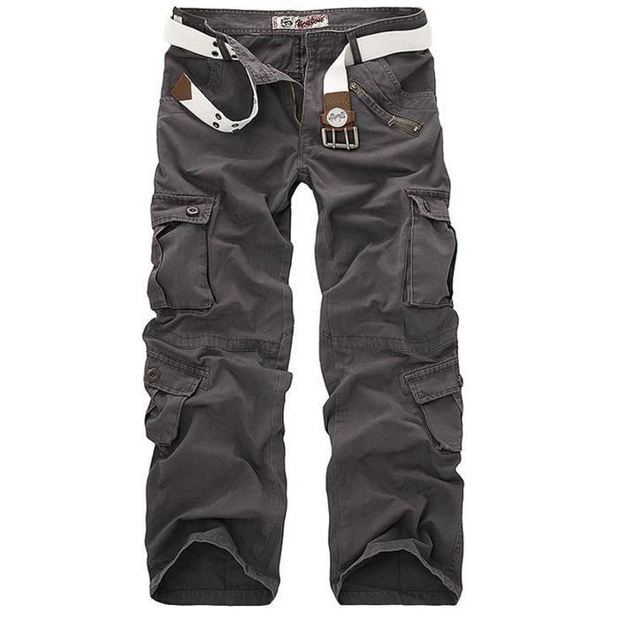 MEXUER Men`s Pants Camouflage Cargo Loose Tactical Work Trousers Pants for Men