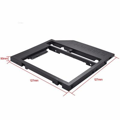 """2nd SATA Second HDD Caddy To SATA 2.5/"""" HDD SSD 9.0mm Enclosure For Laptop CD ROM"""