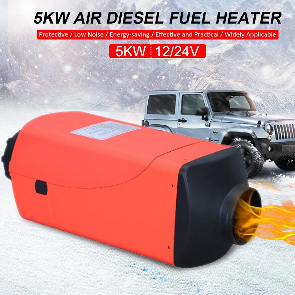 Diesel Air Heater Car Diesel Heater 5KW 12V 24V Four-Hole Diesel air Heater upgradet for Car Trucks Boats Bus Caravan Motorhome Parking Speed LCD Thermostat