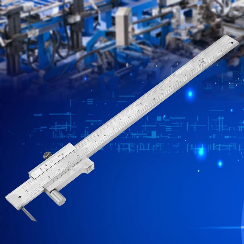 herramienta de medici/ón de regla de calibre digital port/átil de acero inoxidable de 0-200 mm con Scriber Vernier Caliper