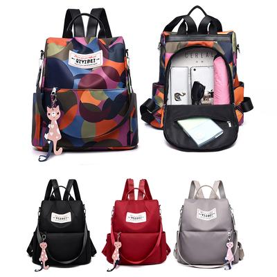 Women Oxford Backpack Wild Travel Student Bag Small Backpack