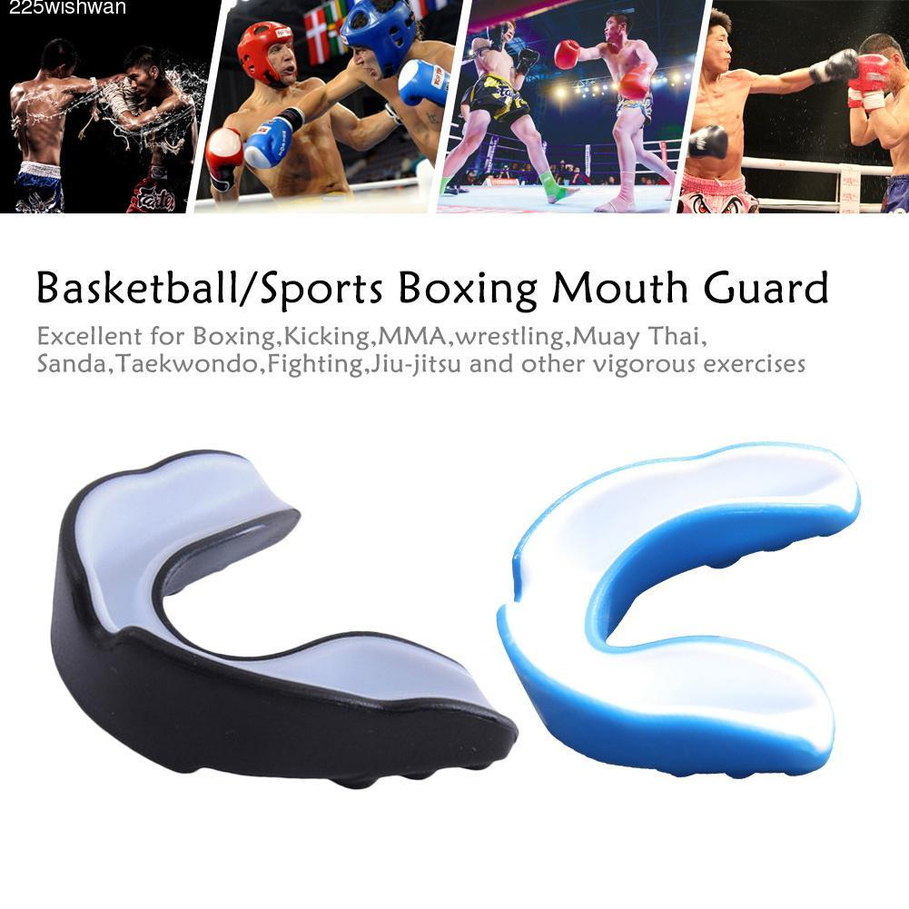 1x Kids//Adults Boxing Mouth Guard Taekwondo MMA Teeth Protector Mouthpiece US
