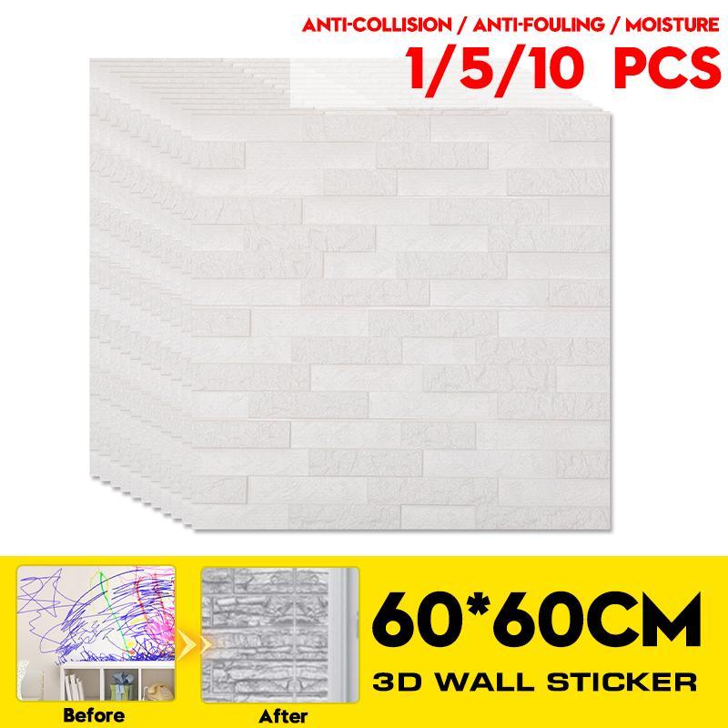 Waterproof 3D Wall Sticker DIY PE Foam Panel Home Room Kitchen Decor 70*70CM