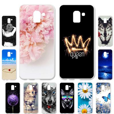 Akabeila Cases for Samsung Galaxy J6 Plus Samsung J6 2018 Prime J600F Cover Painted Case Phone Bag