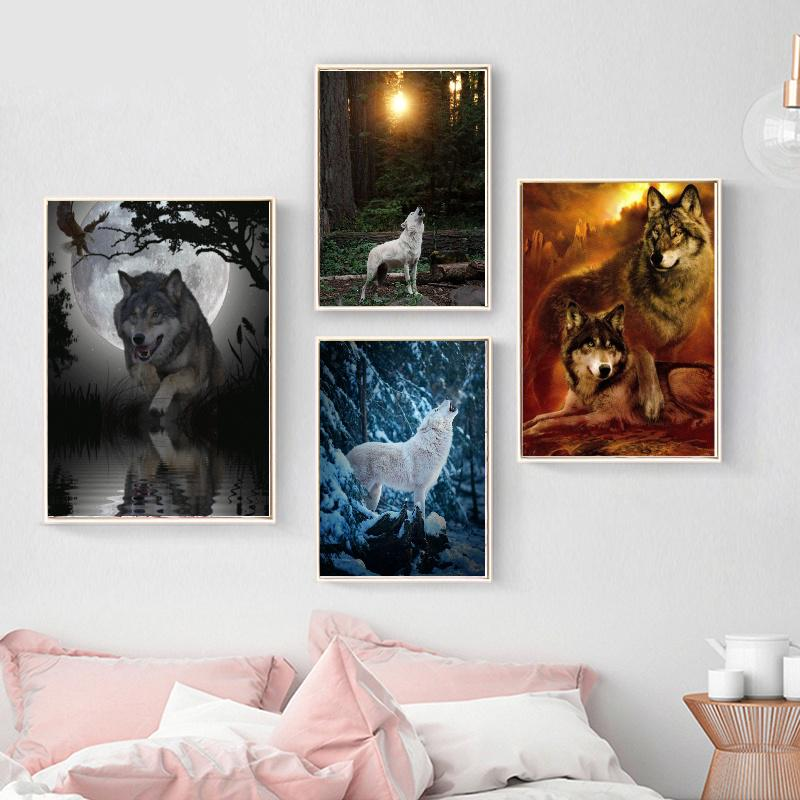 Wolf Embroidery Kit Cross Stitch Wolf Wolves Embroidery Kit Wolf Couple Kit Cross Stitch Kit Wolf Picture Kit Wolf Home Decor