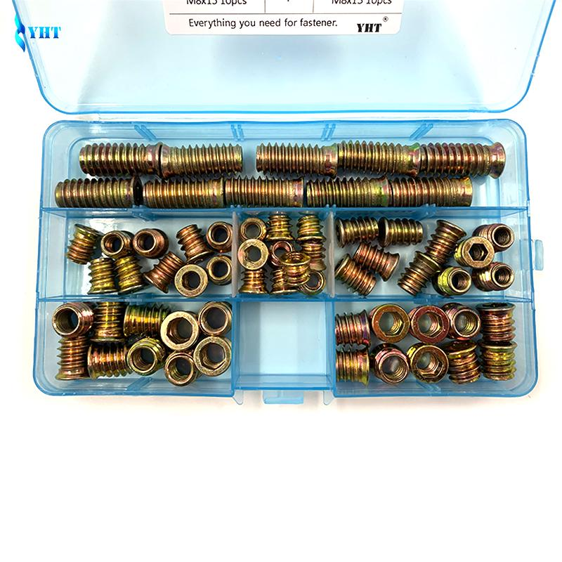 120x Metric Flat Head 4 claw Blind Nuts Insert Rivet T Nut Metal M3 M4 M5 M6 M8