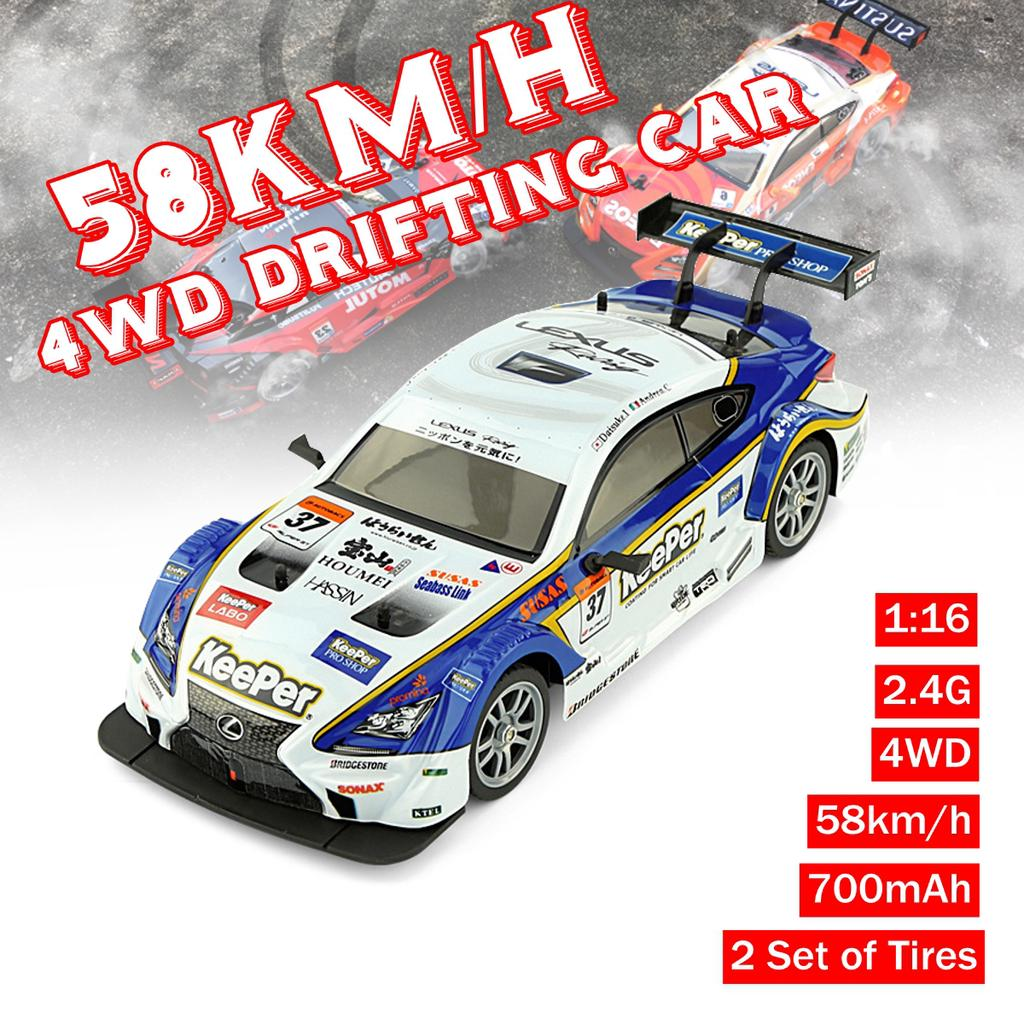 1 16 2 4g 4wd Rc Drift Racing Car 58km H High Speed Gtr 700mah Remote Control Buy At A Low Prices On Joom E Commerce Platform