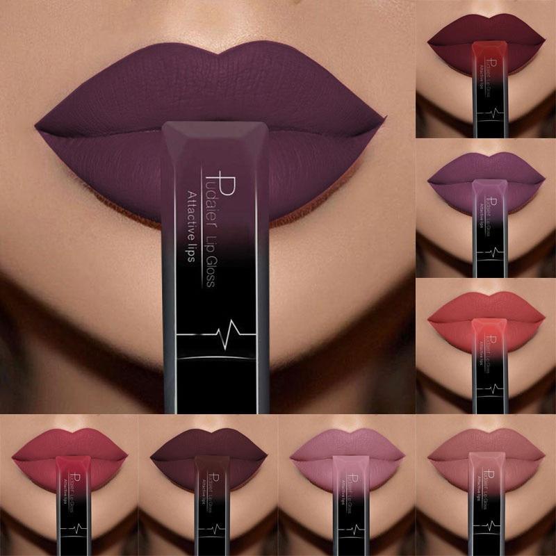 Лучшие продажи водонепроницаемый голый цвет матовый бархат губы блеск помады сексуальный красный цвет губ 21 цвет фото