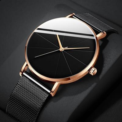 Fashion Women Luxury Watches Ultra-Thin Business Rose Gold Mesh Stainless Steel Watches Clock