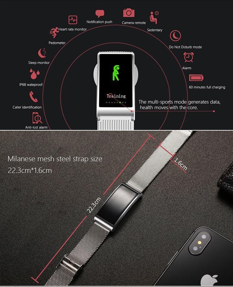 X3 Bluetooth wasserdicht Sport Gesundheit Smart Watch Armband Schlaf ...