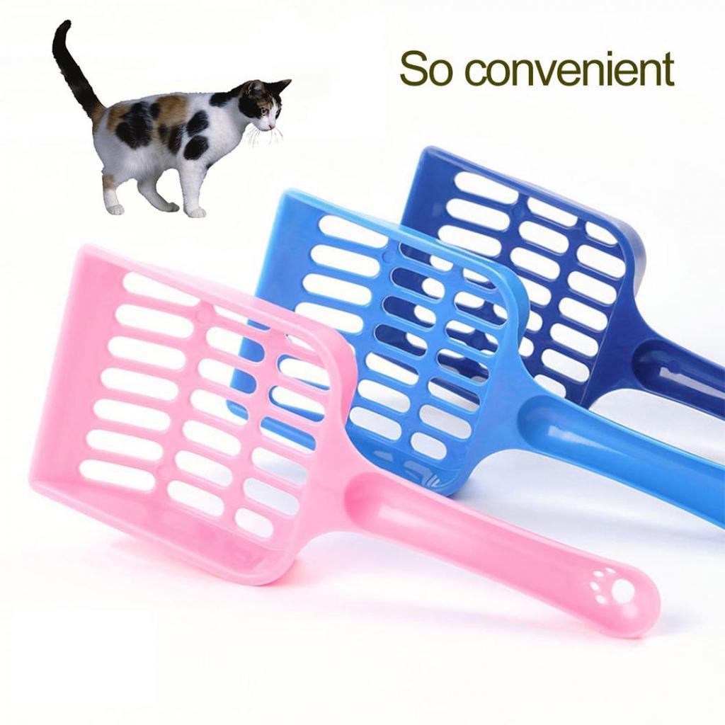 Kitten Sand Waste Scooper Shovel Hollow Out Plastic Litter Scoop Clean Tool for Pet Dog Cat Scoop Pet Supplies