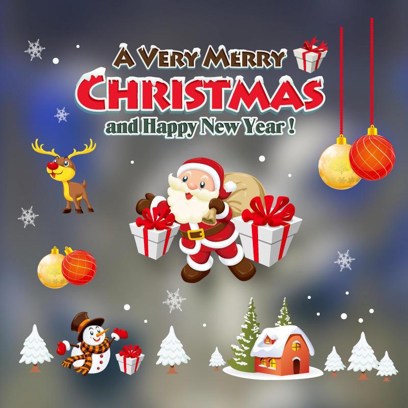 Inicio Feliz Navidad.Ysqars Dicor Decoracion De Navidad Ventana De Cristal