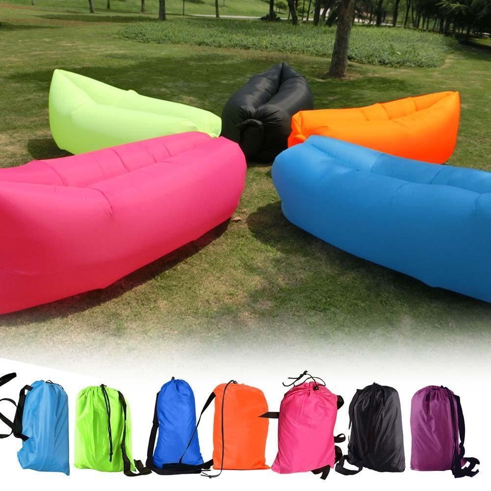 Lazy Air Bed Inflatable Lounger Couch Chair Beach Sofa Bag Hangout Camping Bean