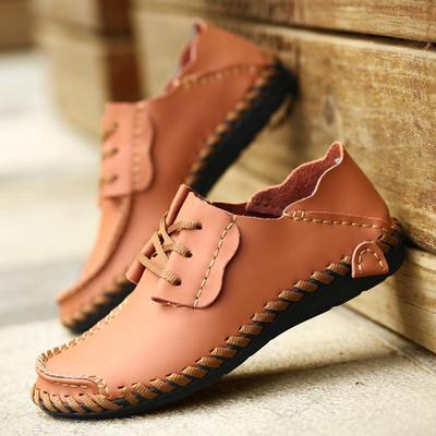 409fd909cb7 2017 Summer Fashion Men s Business Casual Shoes Genuine Leather Dress Shoes  Plus Size 38-47