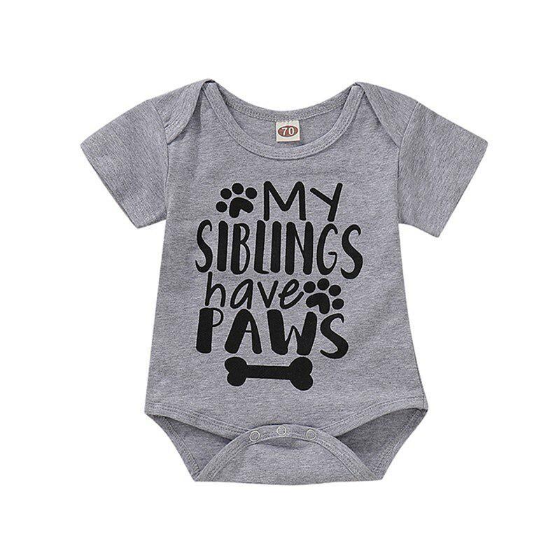 Short Sleeve Letter Print Bodysuit Beppter Infant Baby Girl Boy Jumpsuit Fashion Basic for Newborn Toddler Kid