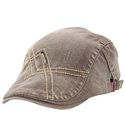 Llano de hombres de las mujeres estilo boina gorra boinas Simple bordado  deportes sombrero aec2fdce970