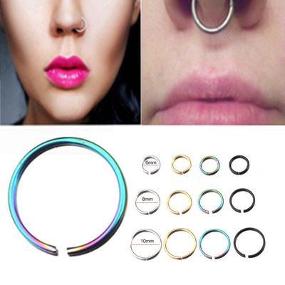 Unisexe en acier inoxydable simple charme boucles d/'oreilles anneau de nez 2pcs