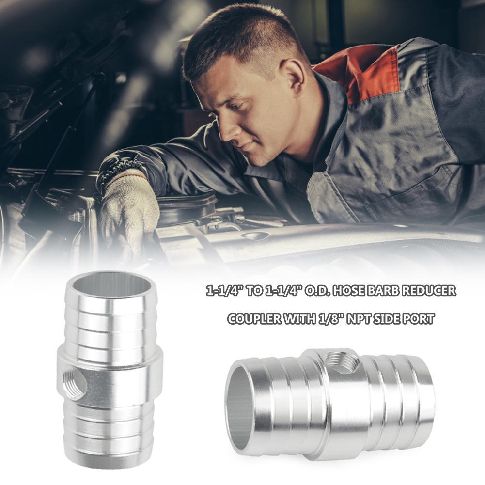 "1-1//4/"" Hose w// 1//8/"" NPT Steam Port Adapter Top Radiator LS Swap Coolant"