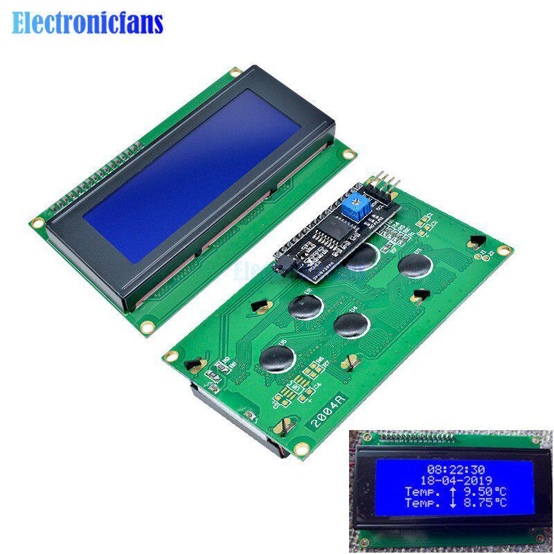 IIC//I2C//TWI//SPI Serial Interface2004 20X4 Character LCD Module Display Blue
