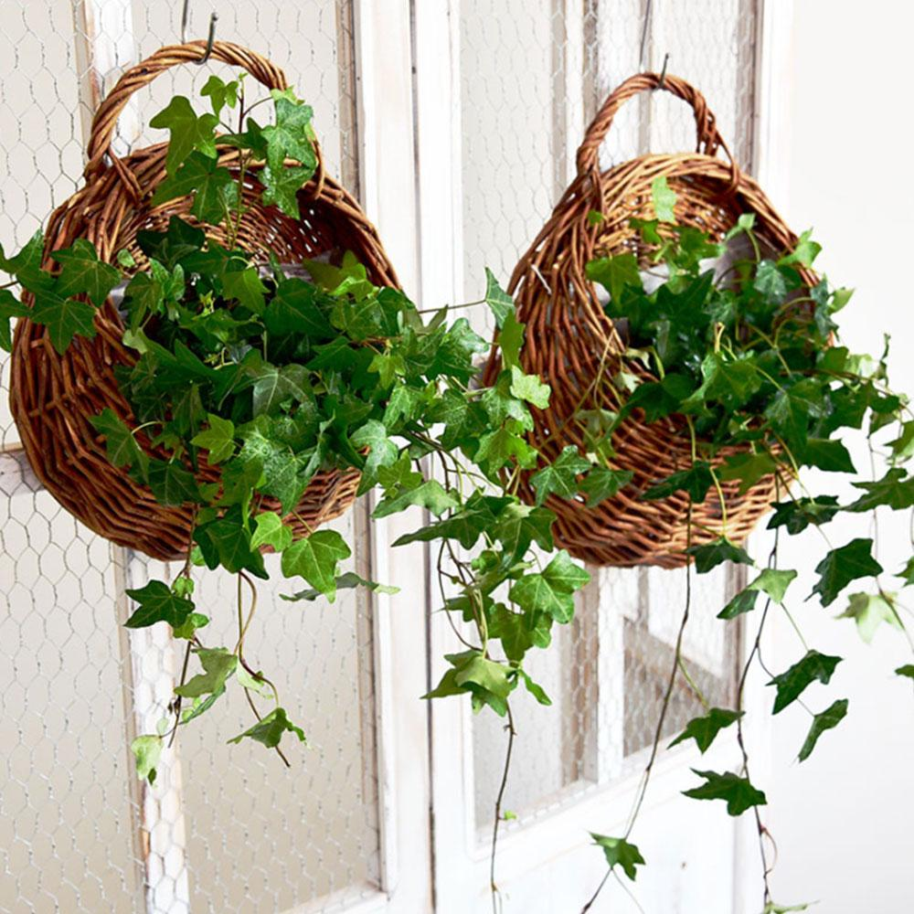 Wooden Basket made of Twigs Pot For Garden Patio Flower home decoration
