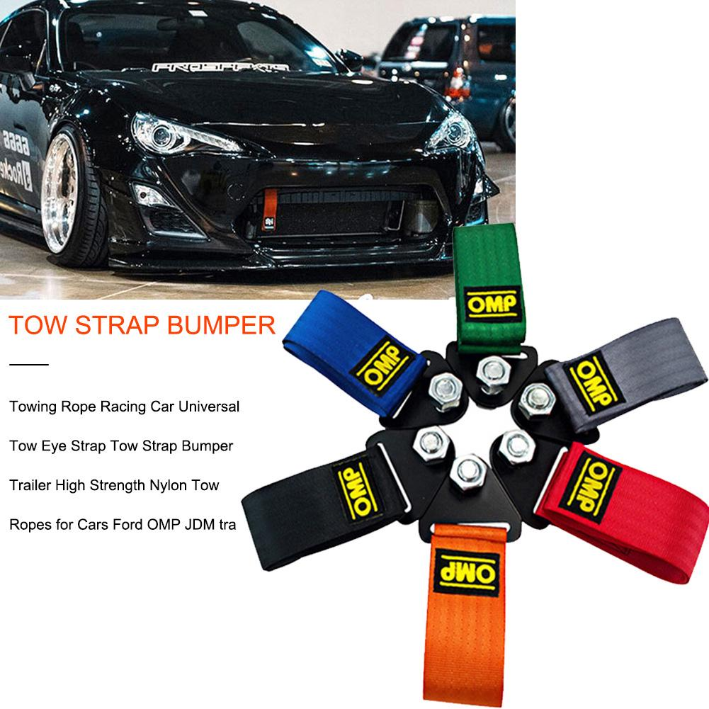 Yobby OMP Towing Rope High Strength Nylon OMP JDM trailer Tow Ropes Racing Car Universal Tow Eye Strap Tow Strap Bumper Trailer