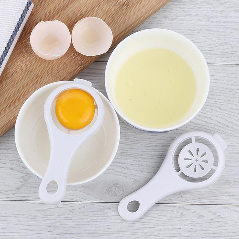 Белый сепаратор яиц просеивание кухонный гаджет пластиковый фильтр сито делитель держатель – купить по низким ценам в интернет-магазине Joom