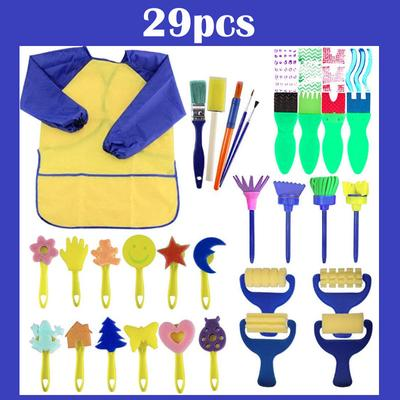 4pcs Kids Painting Brushes Set Reusable Drawing Brush Paint Tools for School