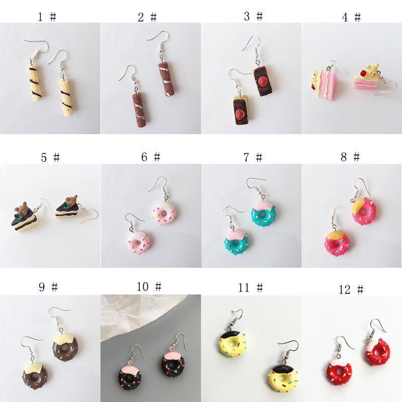 Peach Donuts Stud Earrings Little Girl Jewelry