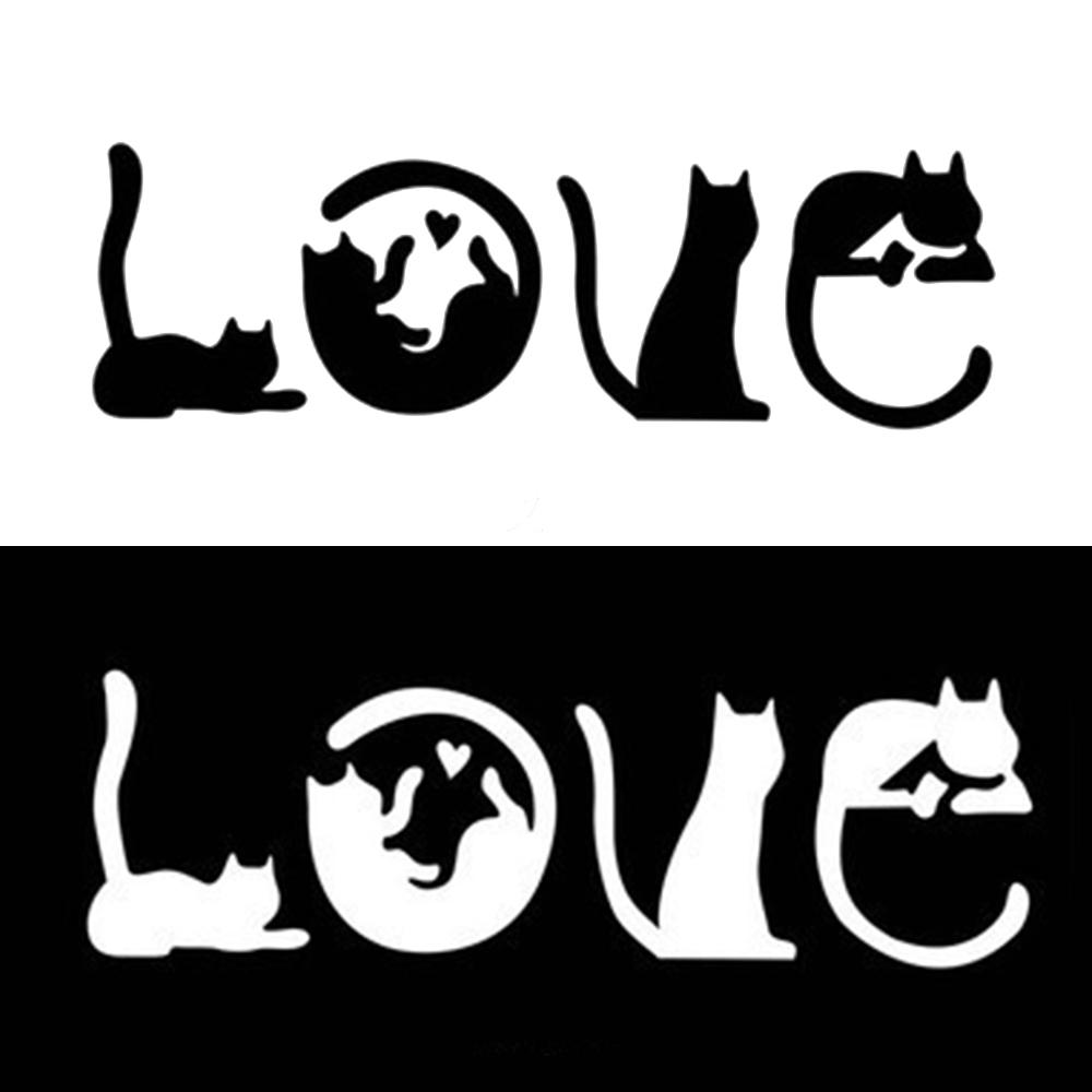 Kitty Paw Cute Pet Animal Meow Car Window Bumper Love Cat Sticker Vinyl Decal