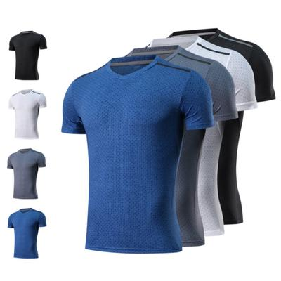 2deb28a4093 Men Summer Short Sleeve Fitness T-shirts Loose Breathable Sports Workout Top