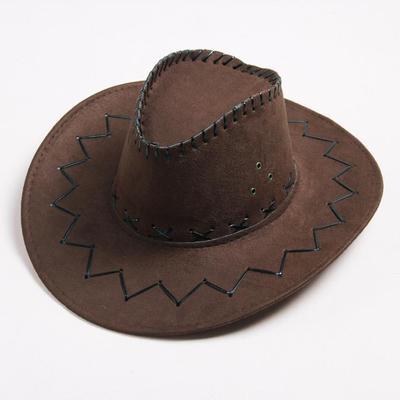 Moda vaquero tapa Color sólido amplio sombrero de mujeres hombres para  fiesta de disfraces 90255d0fe63