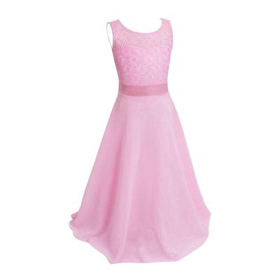 Baby Kids Girls Lace Tulle Bowknot Princess Dress Formal Party Dresses Clothes