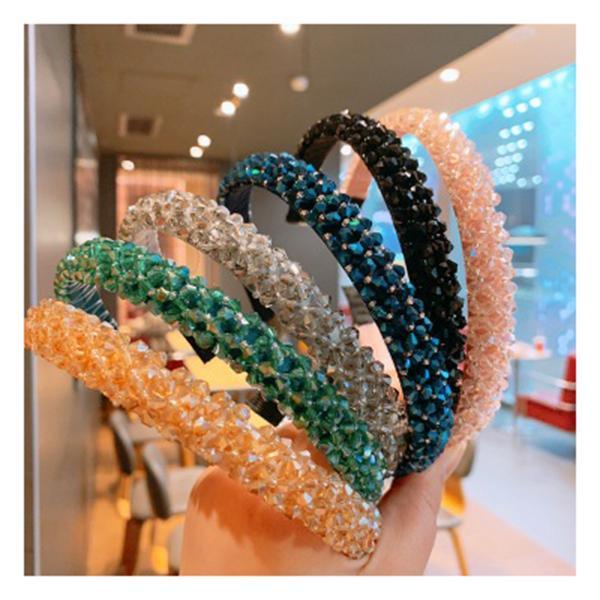 FASHION SHINY SOLID TWISTED HAIR HOOP WOMEN WIDE CLOTH HEADBAND HEADWEAR BLING
