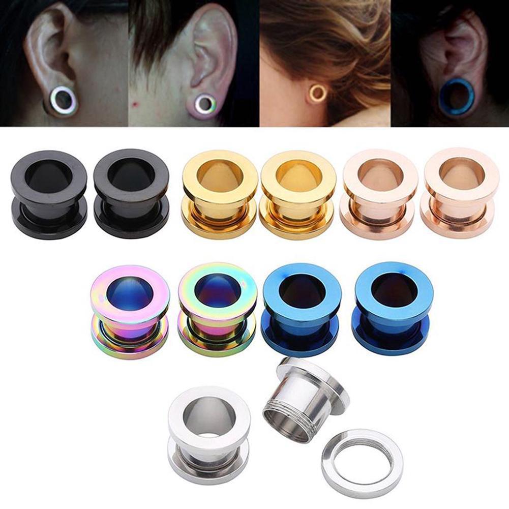 BASIC Rose Gold Ear Tunnel 6 8 10 12 14 16 18 20mm Plugs Flesh Tunnel Expander
