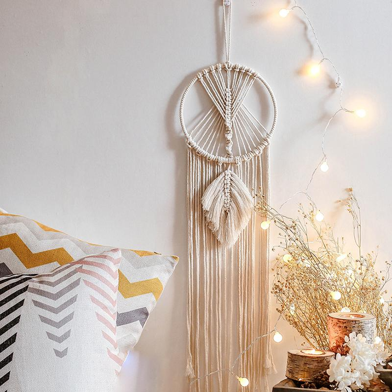 Macrame Home Charm Wall Hanging Boho Hand-woven Tapestry Desk Ornament Decor