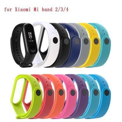 TPU Wrist Strap Bracelet Replacement Watchband for Xiaomi Mi Band 2/3/4 Wristbands