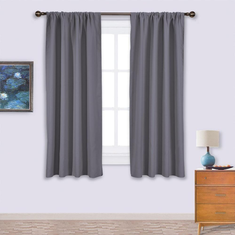 10 colors thermal insulated blackout rod pocket curtains by