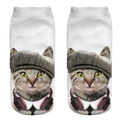 Mens athletic low cut Ankle sock Merry Christmas cute sleeping bear Short Cute Sock