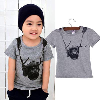 087d8e84 Toddler dla dzieci Kids Boys Odzież T-shirt Topy Stroje Koszula Tee Bluzka  Krótkie rękawy