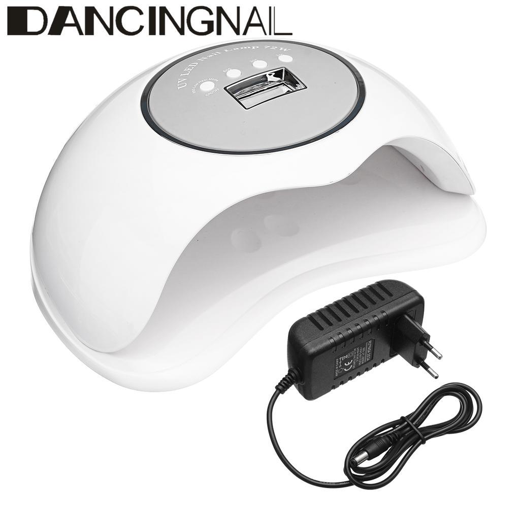 50000h Powerful 72W Quick Hand Sensor 36 UV LED Nail Lamp